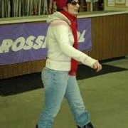 Maryam getting ready to ski